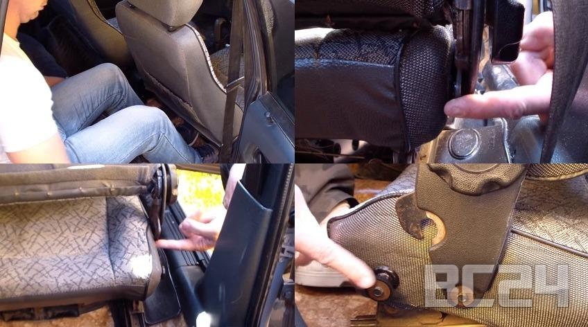 Как быстро сложить передние сидения в отечественном автомобиле?