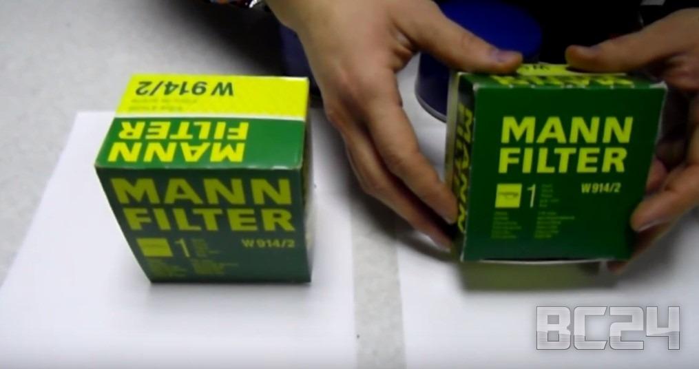 Подделка фильтра MANN