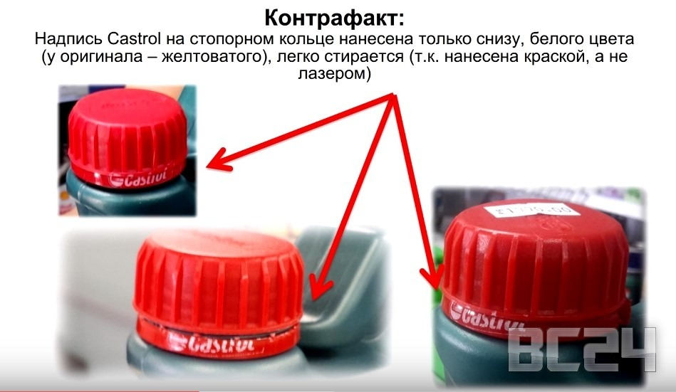 Подделка масла CASTROL - как отличить?